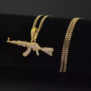 Other - Brand New Bling AK47 Gun Pendant Chain Necklace